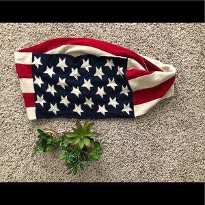 American Flag Infinity Scarf Knit USA
